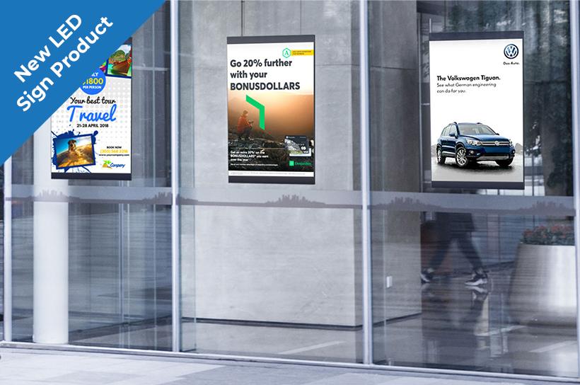 digital window poster signs